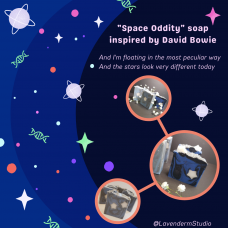Space Oddity (David Bowie inspired) soap